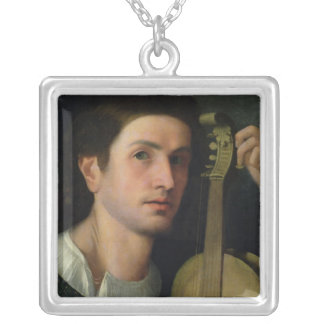 The Lyre, c.1515 Silver Plated Necklace