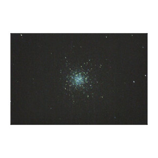 The M13 Star Cluster in Hercules Wall Canvas. Canvas Print