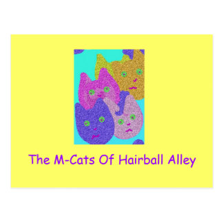 The M-Cats 0f Hairball Alley Postcard