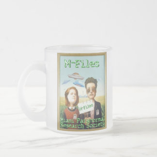 The M-Files frosted mug