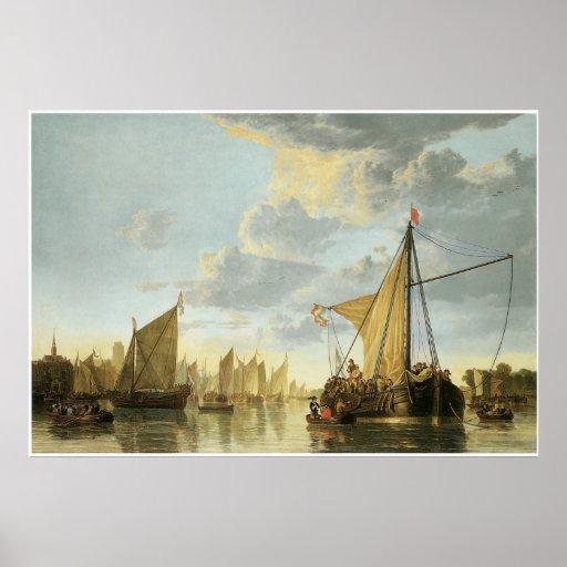 The Maas at Dordrecht, c. 1650 Poster