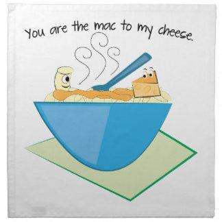 The Mac To My Cheese Printed Napkins