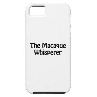 the macaque whisperer iPhone SE/5/5s case