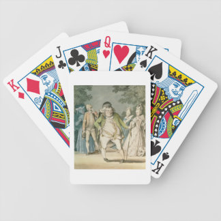 The Macaroni, 1774 (w/c on paper) Bicycle Playing Cards