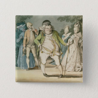The Macaroni, 1774 (w/c on paper) Button