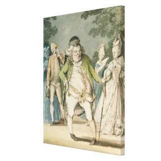The Macaroni, 1774 (w/c on paper) Canvas Print