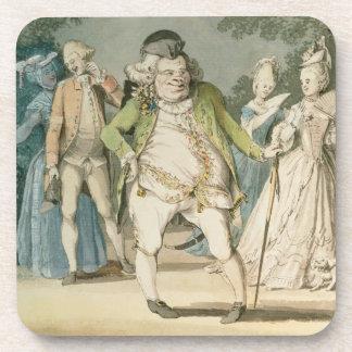 The Macaroni, 1774 (w/c on paper) Coaster