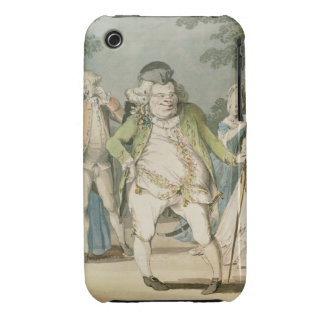 The Macaroni, 1774 (w/c on paper) iPhone 3 Case-Mate Case