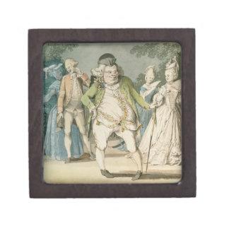 The Macaroni, 1774 (w/c on paper) Jewelry Box
