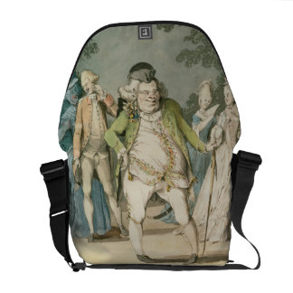 The Macaroni, 1774 (w/c on paper) Messenger Bags