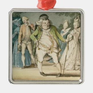 The Macaroni, 1774 (w/c on paper) Metal Ornament