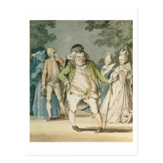 The Macaroni, 1774 (w/c on paper) Postcards