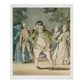 The Macaroni, 1774 (w/c on paper) Poster