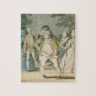 The Macaroni, 1774 (w/c on paper) Puzzle
