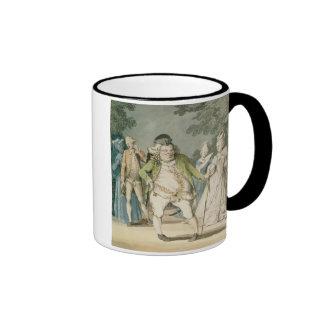 The Macaroni, 1774 (w/c on paper) Ringer Mug