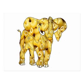 The Macaroni Noodle Elephant-postcard Postcard