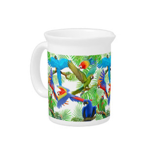 The Macaw Parrot Jungle Pitcher