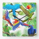 The Macaw Parrot Jungle Wall Clock