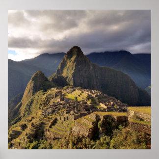The Macchu Picchu a UNESCO World Heritage Site Poster
