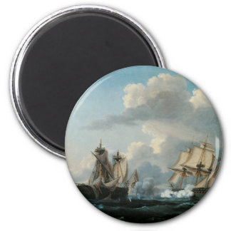 The Macedonian & The United States, 1812 Magnet