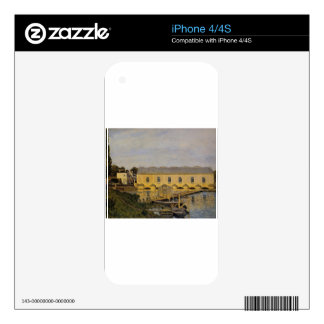 The Machine at Marly by Alfred Sisley Decals For The iPhone 4S