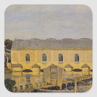 The Machine at Marly by Alfred Sisley Square Sticker