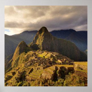 The Machu Picchu site near Cusco in Peru Posters