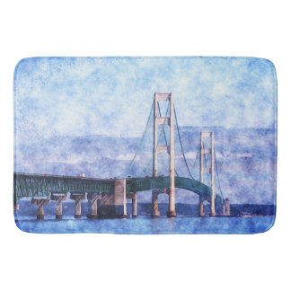 The Mackinac Bridge Bath Mat