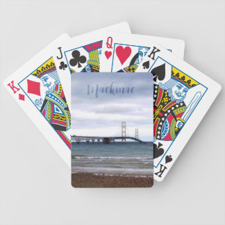 The Mackinac Bridge Bicycle Playing Cards