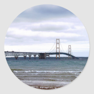The Mackinac Bridge Classic Round Sticker
