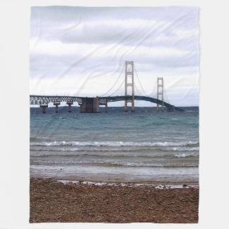 The Mackinac Bridge Fleece Blanket