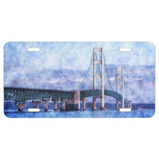The Mackinac Bridge License Plate
