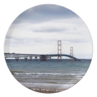 The Mackinac Bridge Melamine Plate