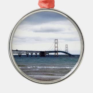 The Mackinac Bridge Metal Ornament
