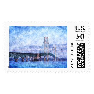 The Mackinac Bridge Postage