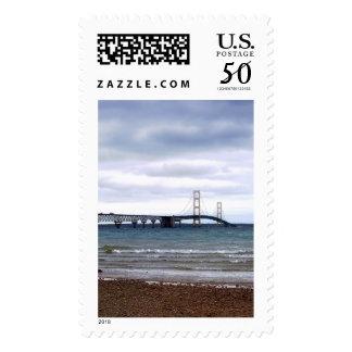 The Mackinac Bridge Postage