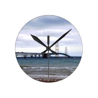 The Mackinac Bridge Round Clock