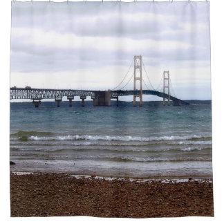 The Mackinac Bridge Shower Curtain