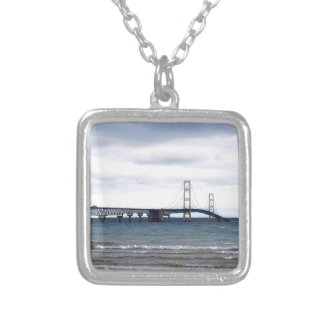 The Mackinac Bridge Silver Plated Necklace