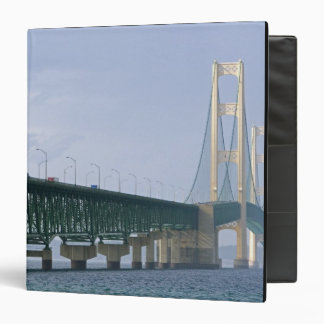 The Mackinac Bridge spanning the Straits of 2 Vinyl Binders