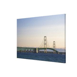 The Mackinac Bridge spanning the Straits of 2 Canvas Print
