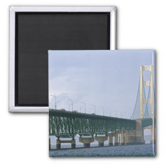 The Mackinac Bridge spanning the Straits of 2 Refrigerator Magnets