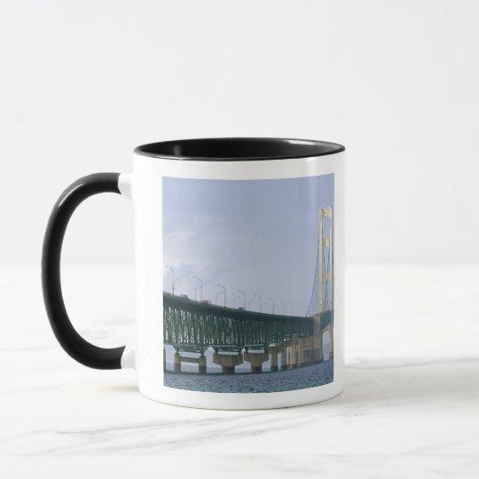 The Mackinac Bridge spanning the Straits of 2 Mug
