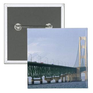 The Mackinac Bridge spanning the Straits of 2 Pinback Button