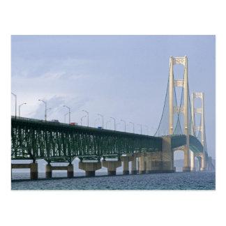 The Mackinac Bridge spanning the Straits of 2 Postcard
