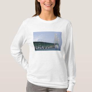 The Mackinac Bridge spanning the Straits of 2 T-Shirt