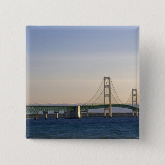 The Mackinac Bridge spanning the Straits of 3 Button