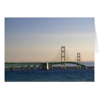 The Mackinac Bridge spanning the Straits of 3 Card