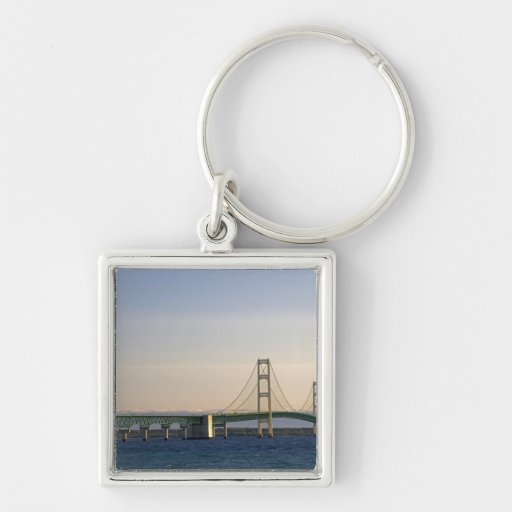 The Mackinac Bridge spanning the Straits of 3 Keychains