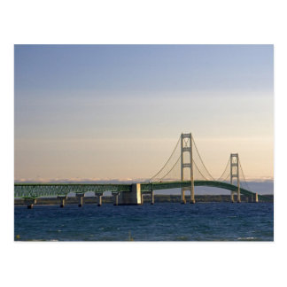 The Mackinac Bridge spanning the Straits of 3 Postcard